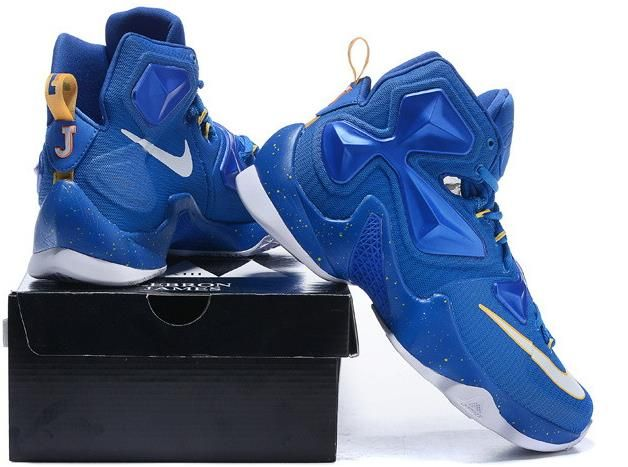 quality design b600d 1d7b7 Lebron 13 Shoes Royal Blue Yellow White1   nike lebron 13 ...
