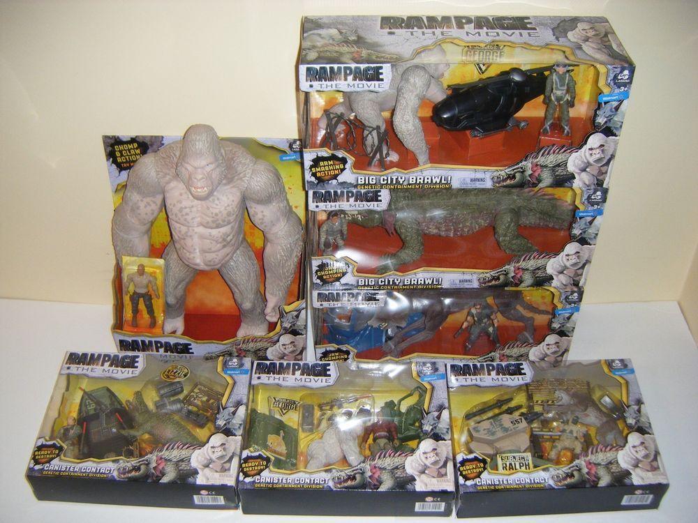 Lanard Toys Rampage The Movie Figure Complete Set Of 7 Walmart