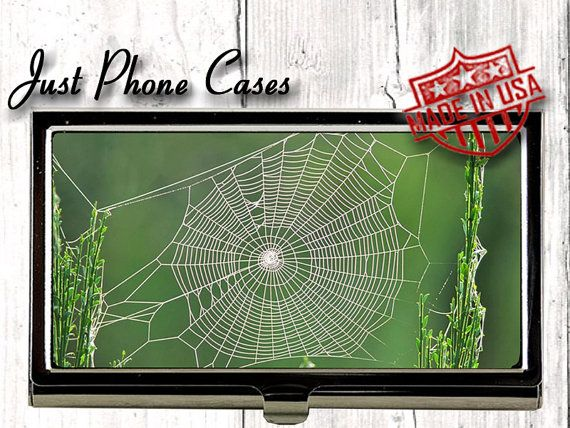 Metal Business Card Holder Spiderweb Business By