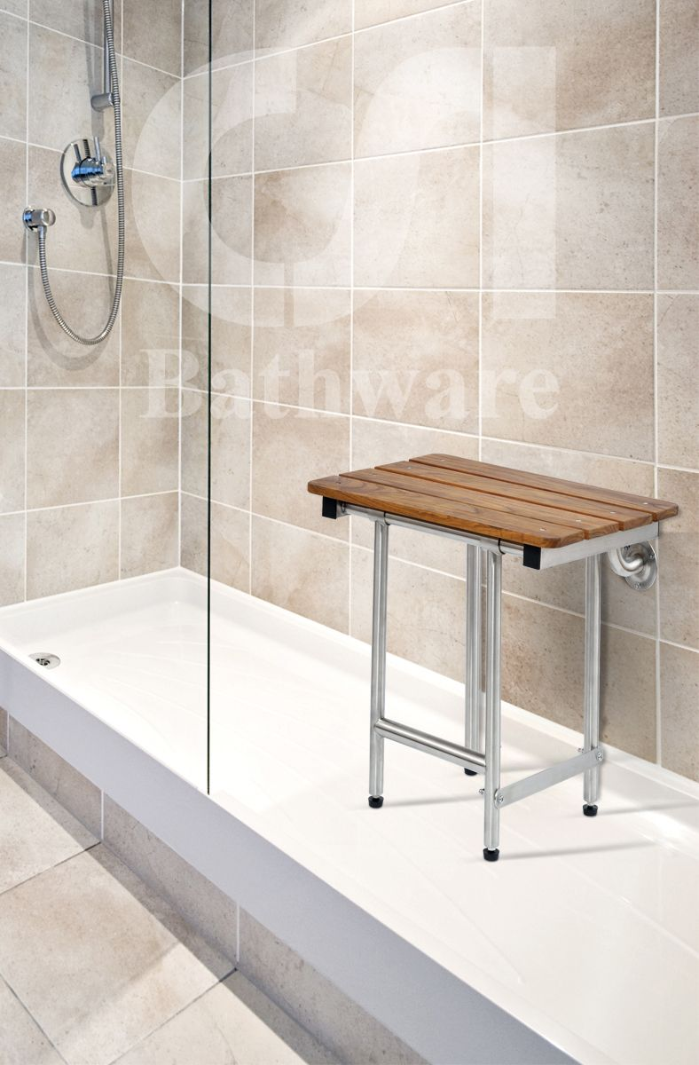 ADA Folding Teak Shower Seat Sustainably harvested from organic ...