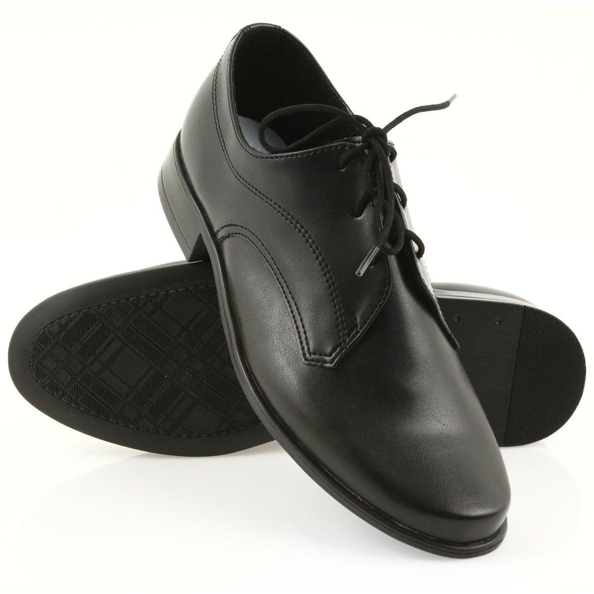 Miko Polbuty Dzieciece Buty Chlopiece Komunijne Czarne Childrens Shoes Boys Communion Shoes Childrens Shoes