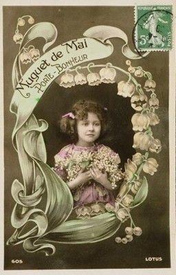"""Résultat de recherche d'images pour """"muguet 1er mai vintage"""""""
