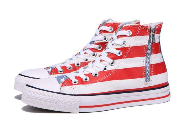 ddafb9bcc663a8  converse Zip USA Converse American Flag All Star Chuck Taylor Soft Nap  Inside Velvet High Tops Canvas Winter Boots