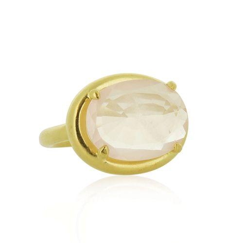 Linda Tahija - Rock Ring Rose Quartz - Shop - Little Extras Lifestyle