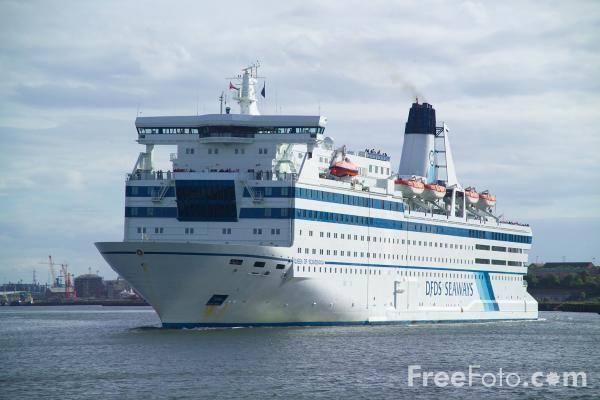 Dfds Seaways Ms Queen Of Scandinavia Ijmuiden Newcastle Schepen