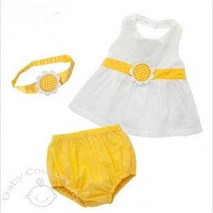 Summer Sunflower Baby #Bloomer Set