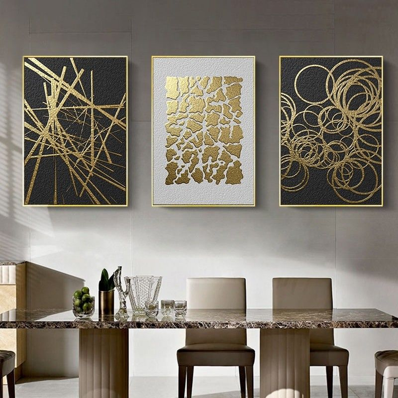 Abstract Geometric Canvas Poster Golden And Black Wall Art Painting Posters And Prints Wall Pictures For Living Room Home Decor In 2021 Wall Painting Living Room Wall Art Living Room Living Bedroom decor canvas abstract painting
