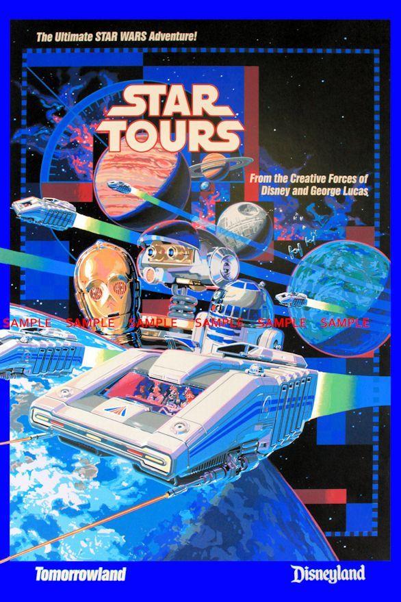 "Star Tours Poster Disneyland StarWars Weekend Princess Amidala 8/"" x 11/"""