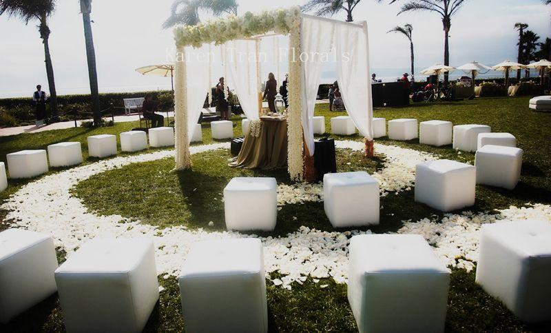 Fancy tulle wedding ceremony