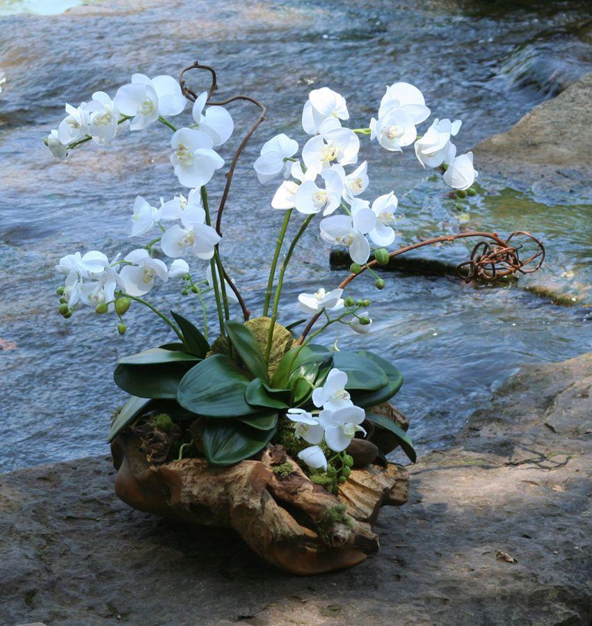Flower Arrangement Using Driftwood: Rustic Wood Basin By Distinctive