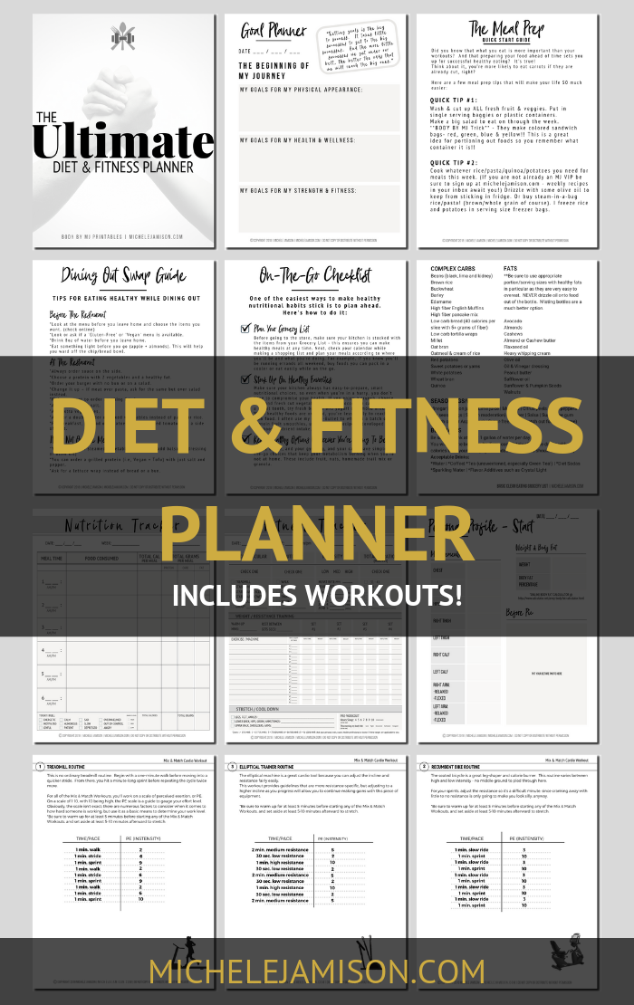 THE ULTIMATE DIET & FITNESS PLANNER -