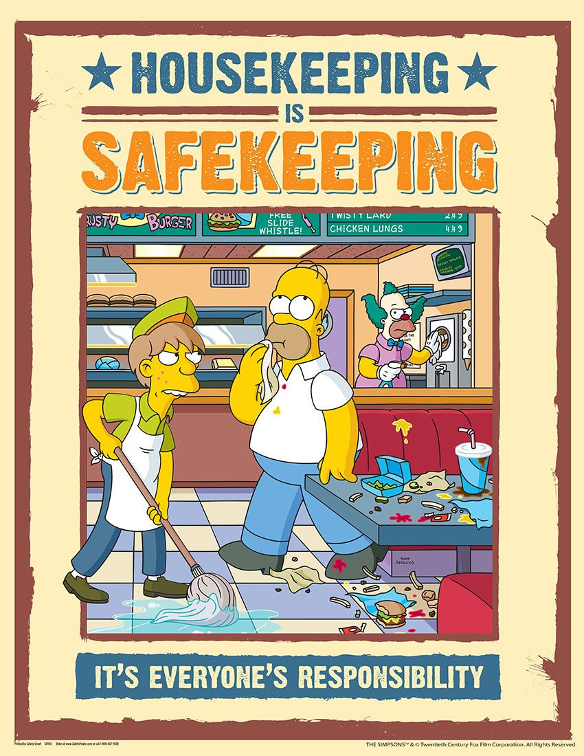 Kitchen safety poster project - Simpson S Safety Posters
