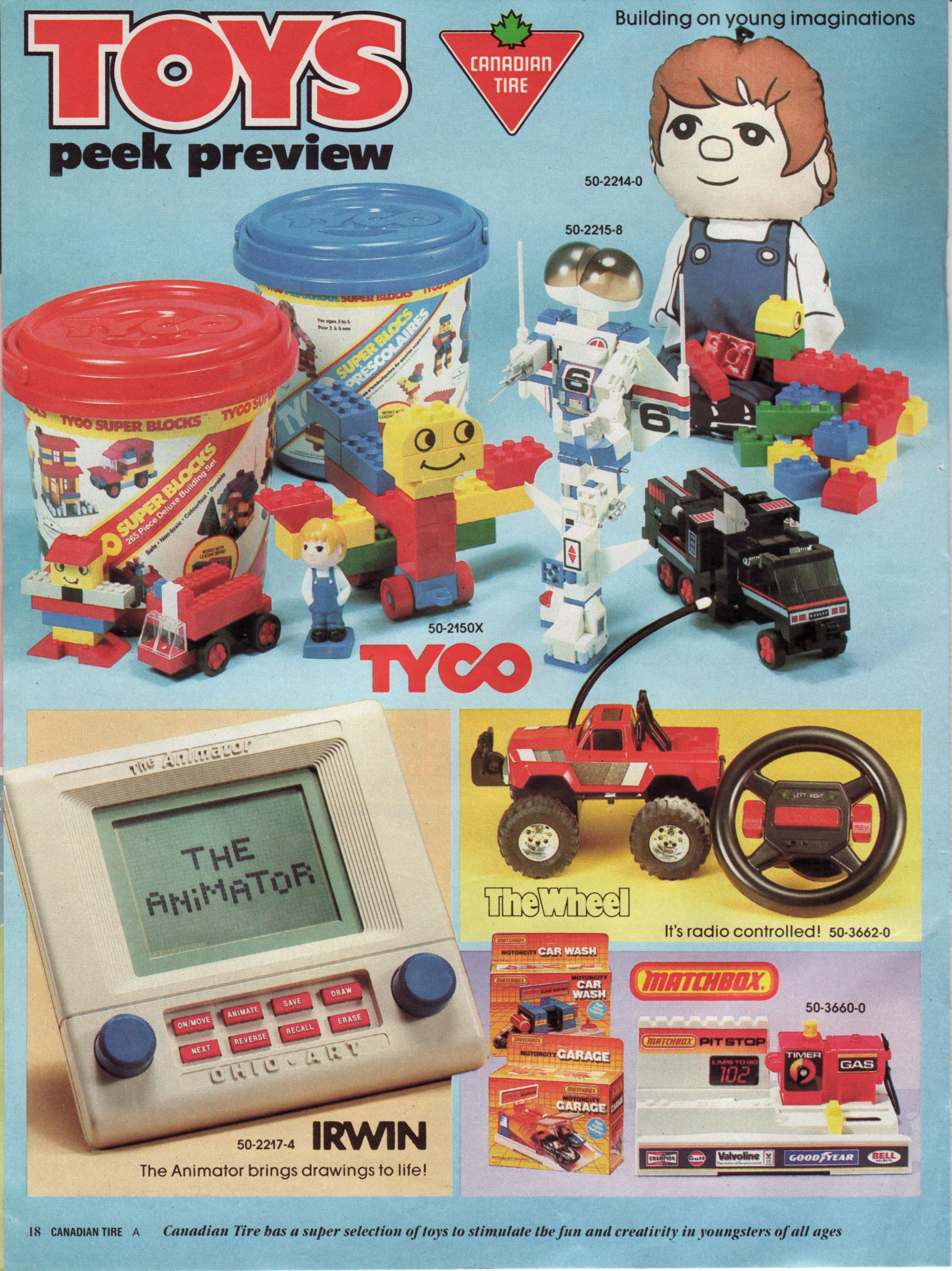 1986 Canadian Tire flyer mini catalogue catalog Toys peek preview