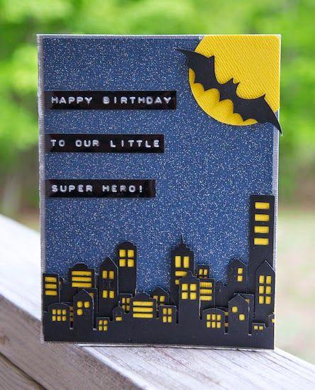 Scissors Spatulas And Sneakers Batman Birthday Card Creative Birthday Cards Birthday Cards Handmade Birthday Cards