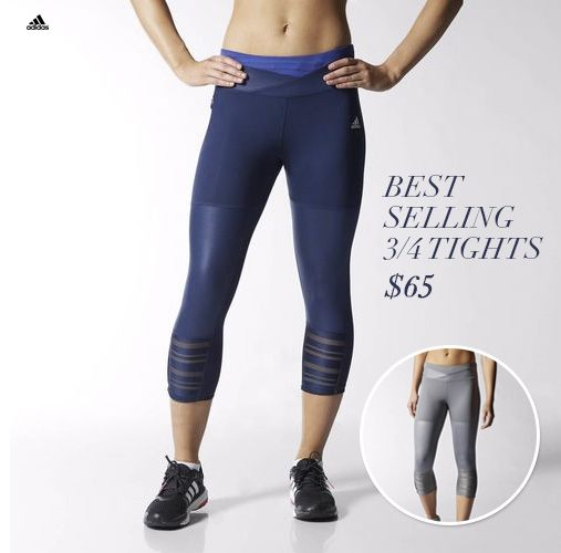 Adidas Best Selling ¾ Tights #running #crossfit #yoga