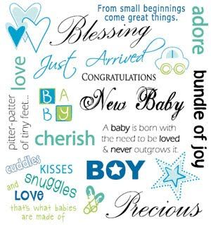 quotes for baby arrival baby boy Kaisercraft Basic Rub