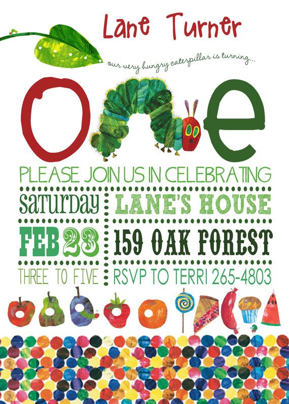 Hungry Caterpillar Invitation I Like The Way This Looks Hungry