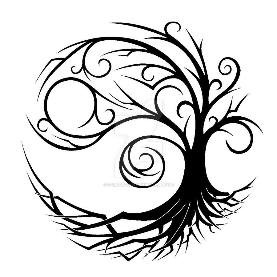 Coloring pages yin yang - Yin Yang Symbol Drawing Google Search