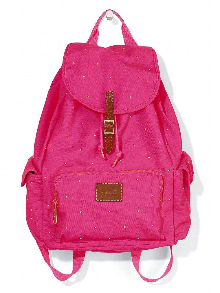 d97e84ea0db81 Studded Backpack - PINK - Victorias Secret Billeteras