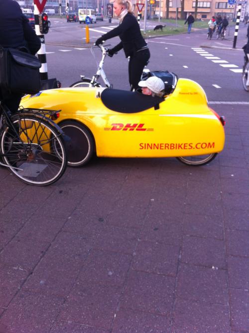 DHL Vehicle in Utrecht, NL Logistics, Transportation, Qwik