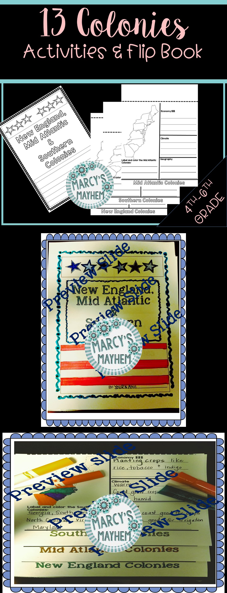 Workbooks new england colonies worksheets : 13 Colonies Activity Flip Book | Southern colonies, Flip books and ...