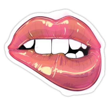 Aufkleber Sticker offener Mund Smiler