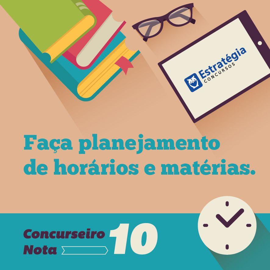 Faça planejamentos para #estudar melhor!