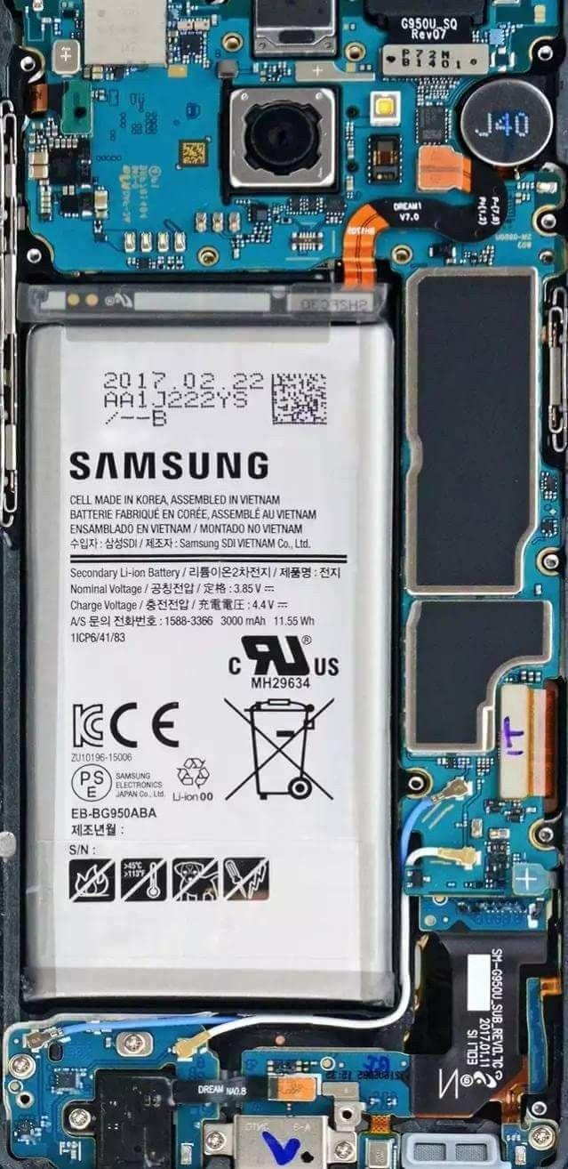 Galaxy S8 internals Wallpaper #samsung #s7 #s8 #wallpaper   s8 in 2019   Pinterest   Samsung s8 ...