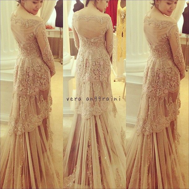 Cream Wedding Kebaya Verakebaya