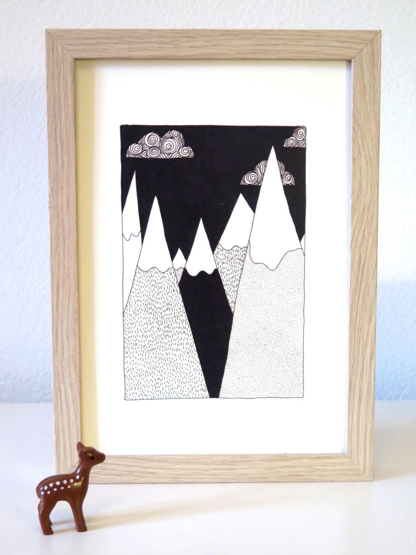 Top 10 affiches montagne les biches d coration - Affiche deco scandinave ...