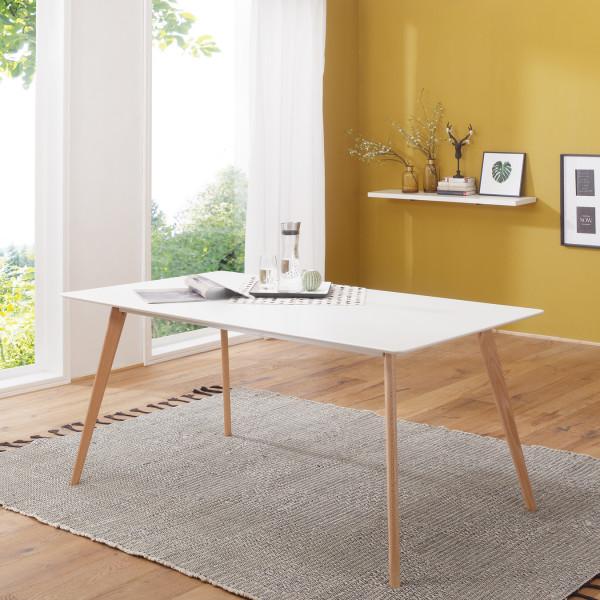 Wohnling Esstisch 180x76x90 Cm Esszimmertisch Weiss Modern Furnicato De Esszimmertisch Esstisch Retro Esstisch Holz