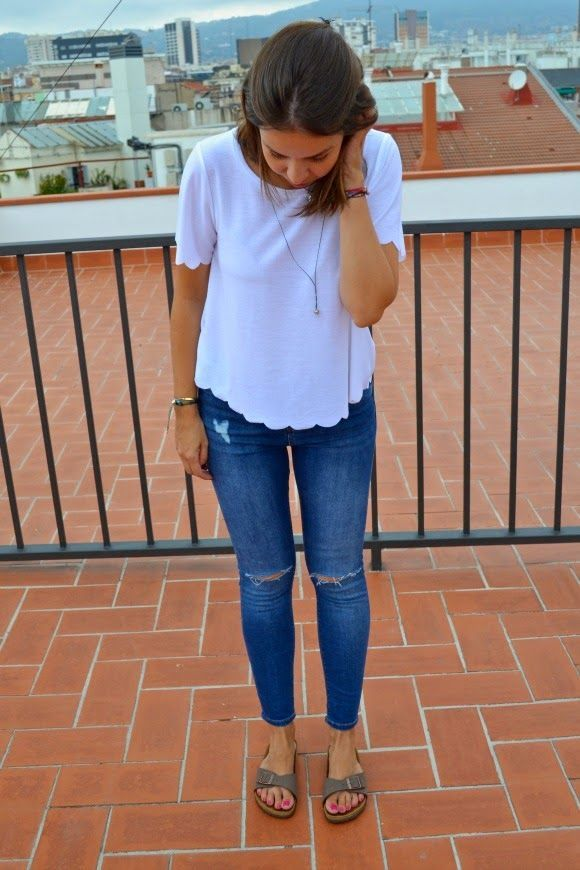 Image result for birkenstock mayari stone outfits | Outfit ...