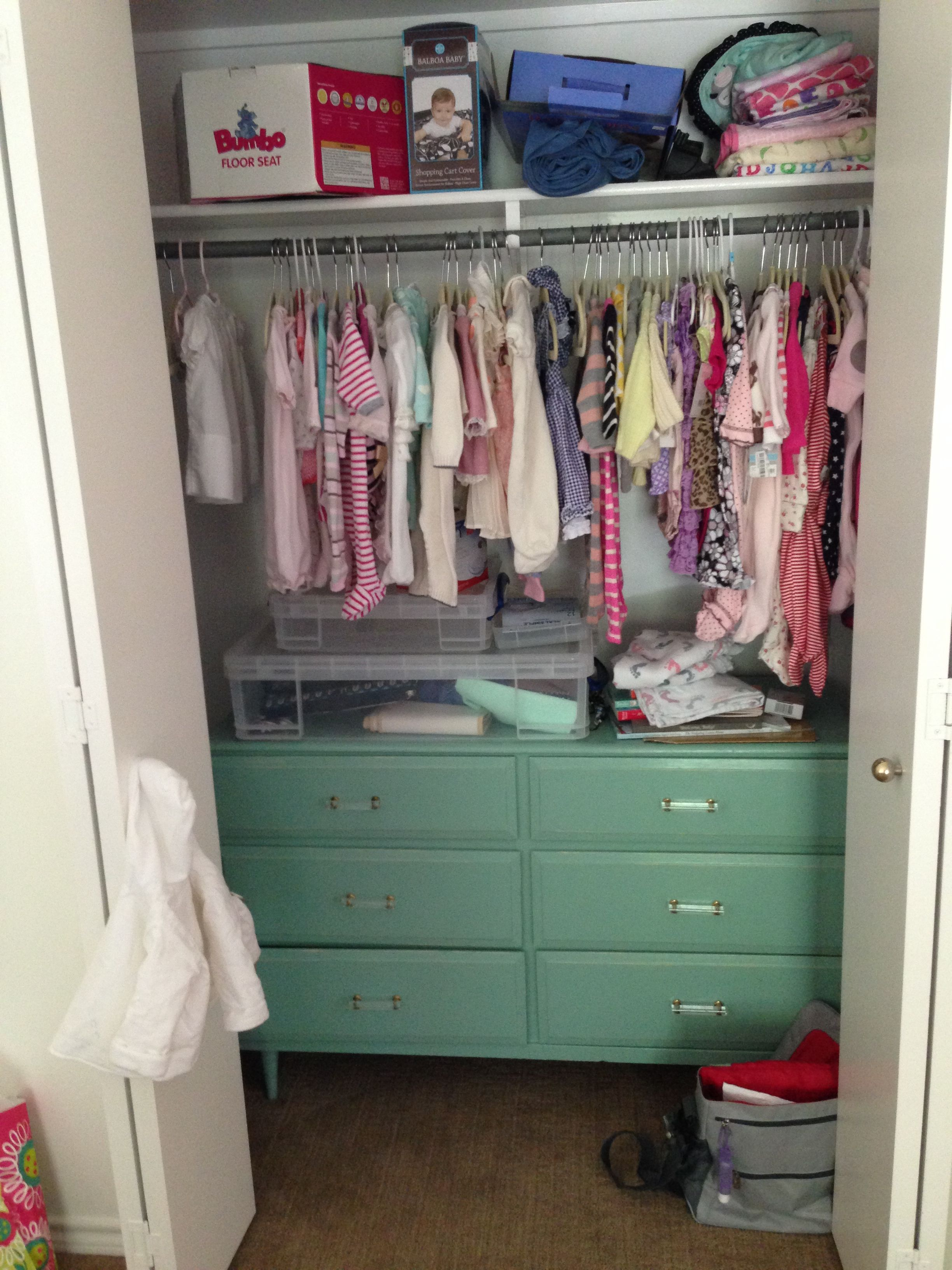 Could add another long dresser in the closet for extra storage