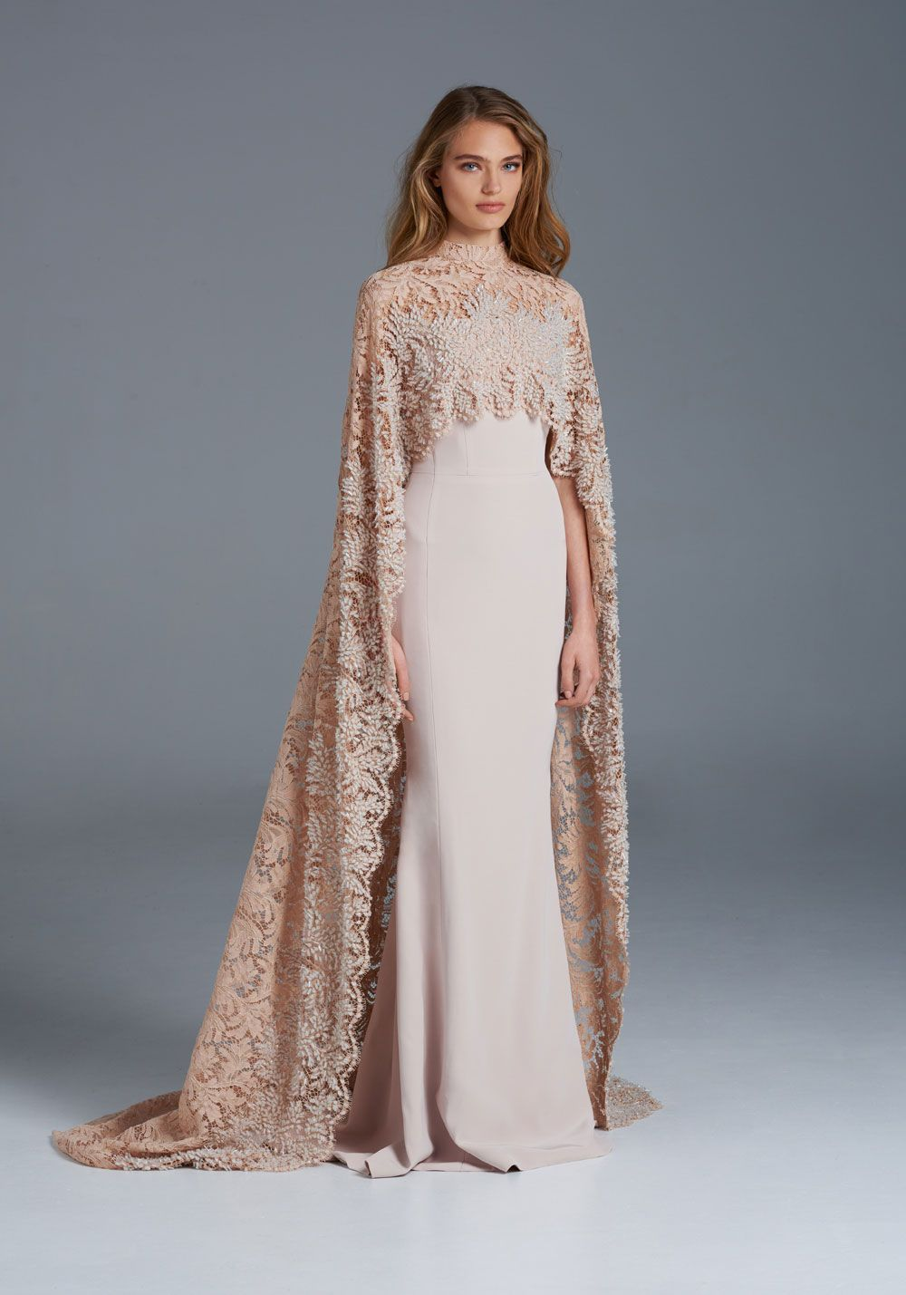 ss couture paolo sebastian beautiful cape gown glory