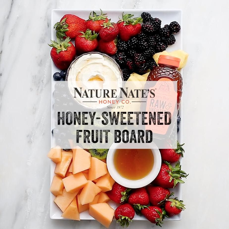 Fruit Grazing Board with Honey Dip
