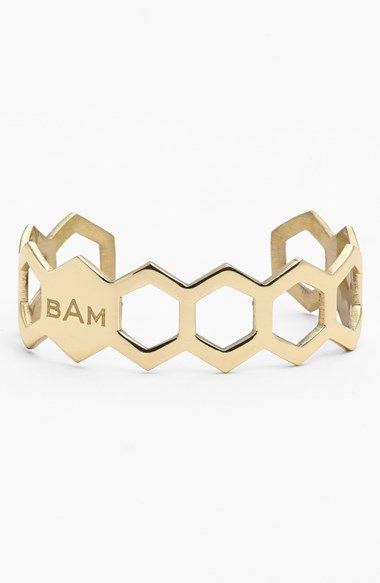 Free shipping and returns on Rustic Cuff Cutout Personalized Monogram Cuff at Nordstrom.com. Honeycomb-shaped cutouts connect into a high-polish cuff starring one monogrammed station.