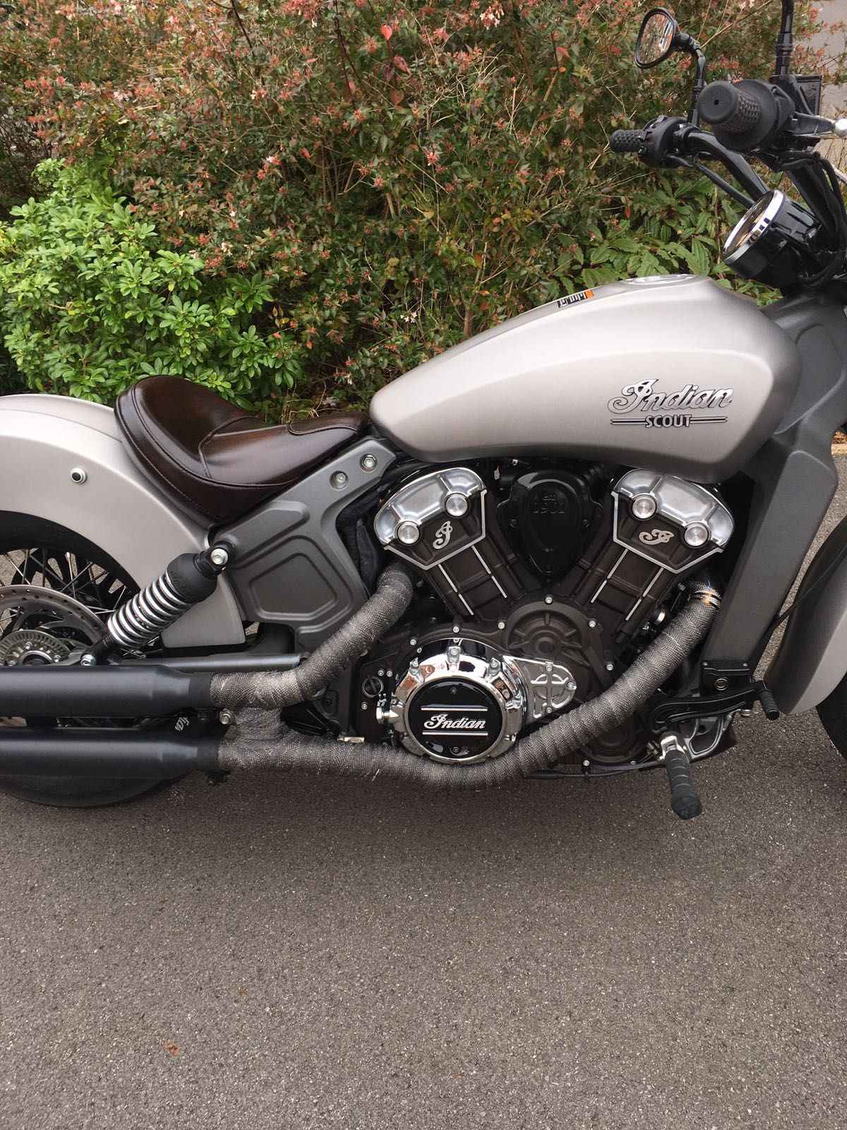 Custom Indian Scout Power Coating And Exhaust Tape Indian Motorcycle Indian Motorbike Indian Motorcycle Scout [ 1600 x 1200 Pixel ]