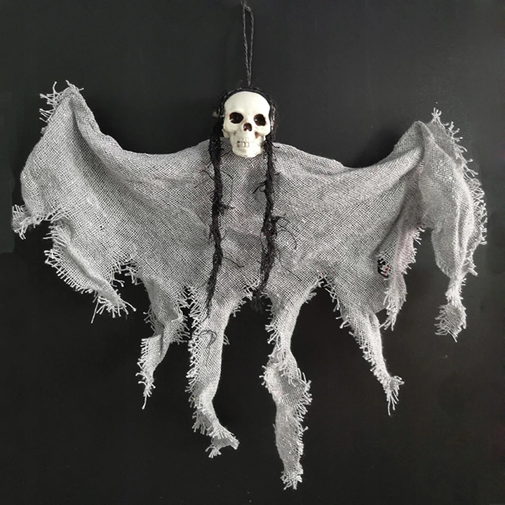 Halloween Horror Ghost Pendant Ornaments Gray 8467346012 Oficjalne Archiwum Allegro Hanging Ghosts Hanging Ghost Decoration Ghost Decoration