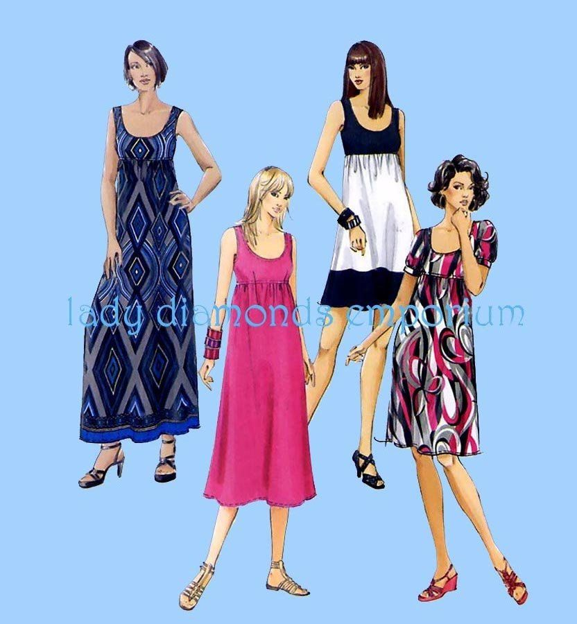 18W-20W-22W-24W McCalls Sewing Pattern 5893 Ladies Plus Size Dress Sizes