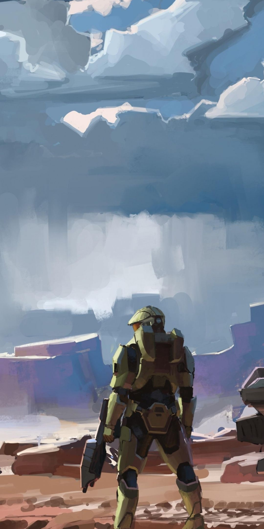 Artwork Video Game Halo Infinite Soldier 1080x2160
