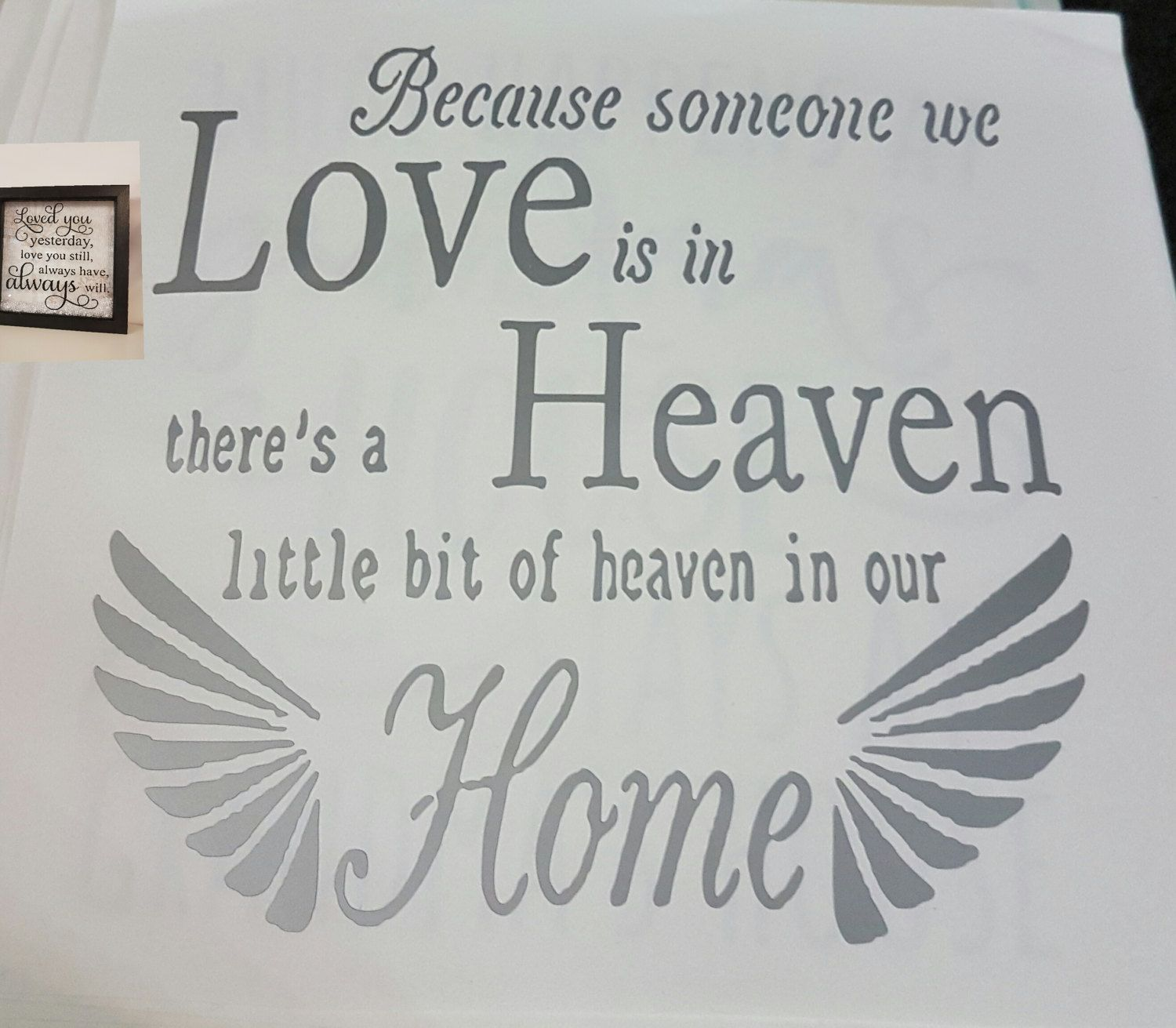 Uncategorized Diy Vinyl Stickers vinyl sticker loss in heaven bereavement wording perfect for diy box frames etc by vinylqueen1981 on