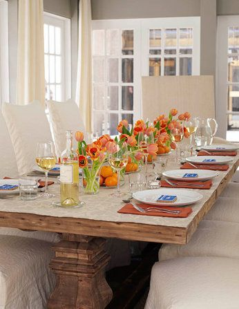 Table setting from Barefoot Contessa\'s home   Tablescapes ...
