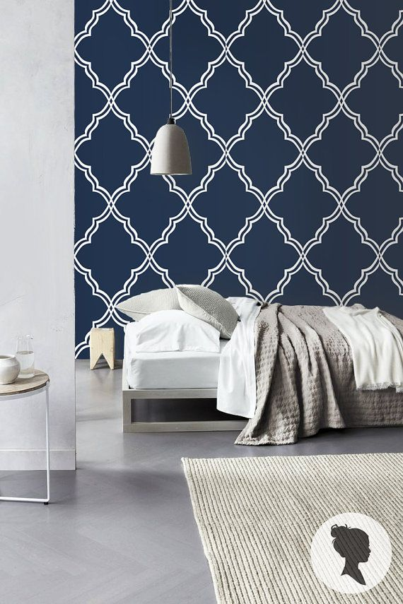 Watercolor Blueberries Removable Wallpaper Royal Blue Self Adhesive And Traditional Wallpaper Traditional Wallpaper Moroccan Pattern Wallpaper Living Room