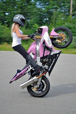 Stunt Girl Stunt Bike Motorcycle Motorcycle Girl