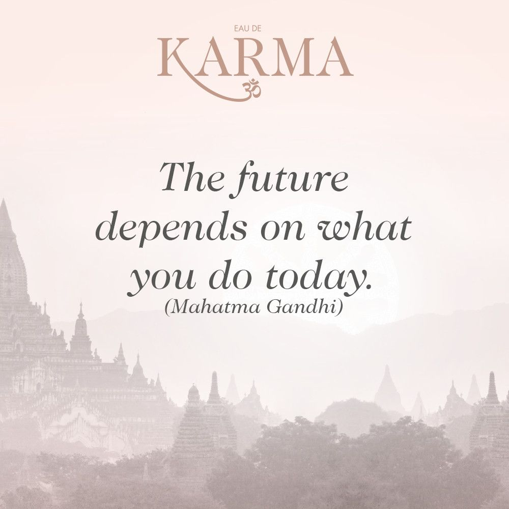 Inspirational Day Quotes: The Future Depends On What You Do Today. (Mahatma Gandhi