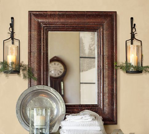 Bathroom Candle Sconces artisanal wall-mount candle holders | pottery barn | fy living