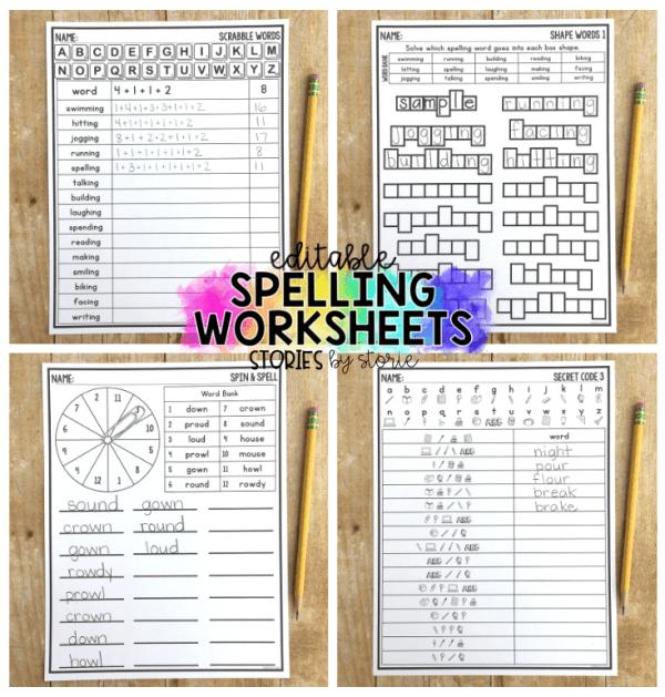 15++ Large spelling worksheets Images