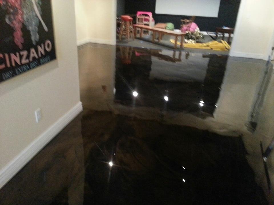 Black Metallic Epoxy Floor Epoxy Overlay Concrete Floor