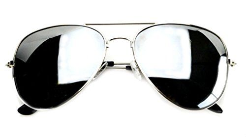 c7418ee2b7 WebDeals Aviator Full Silver Mirror or Color Mirror Metal Frame Sunglasses  Silver Mirror Large     For more information