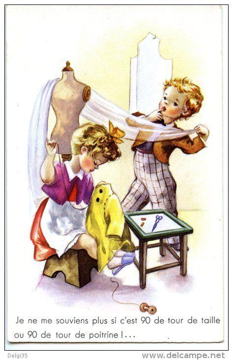 Enfants - Garçon tailleur - Fille couturière _ - Delcampe.net